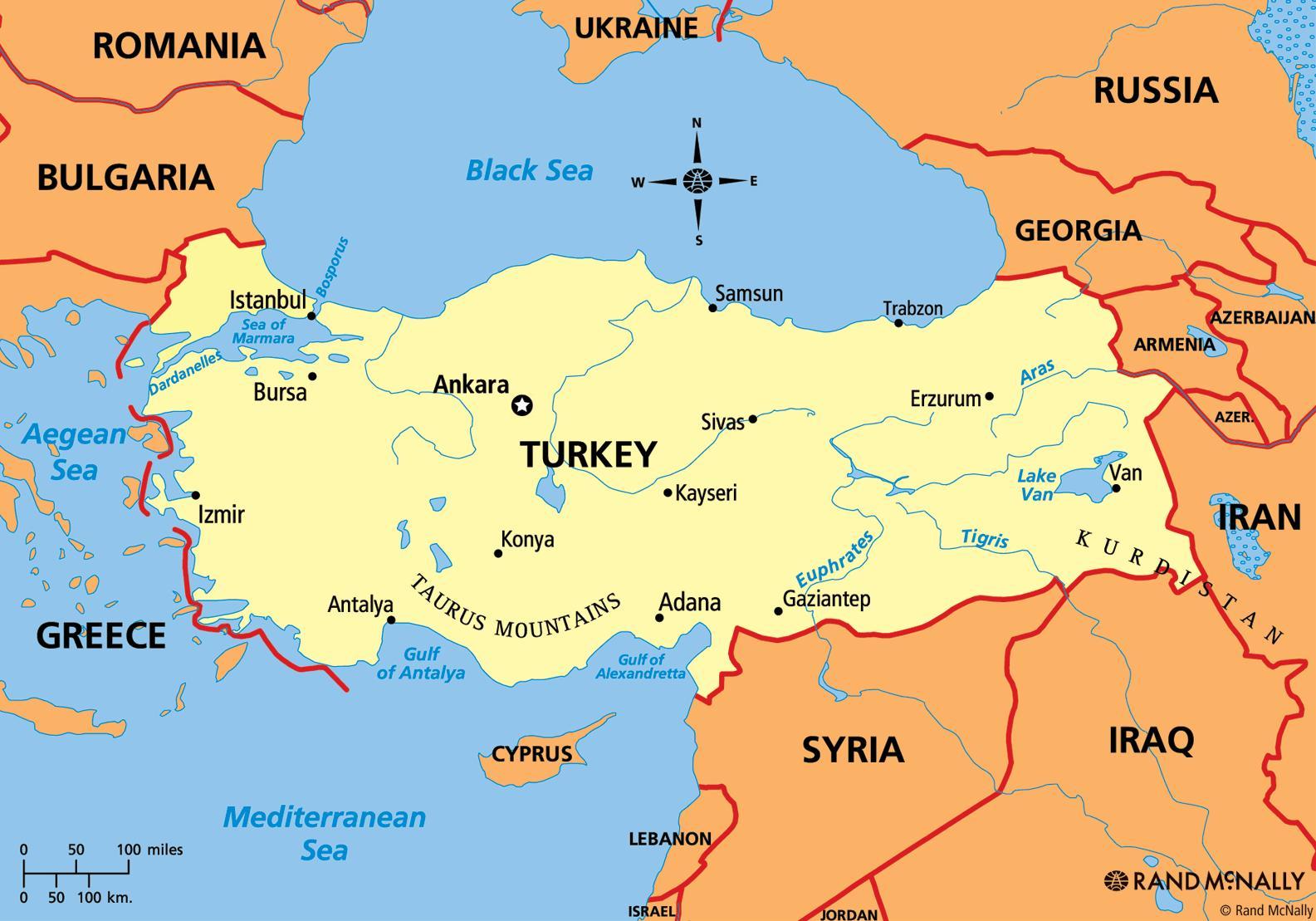 Karta Turska Karta